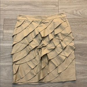 New York and Company Ruffle Front Skirt